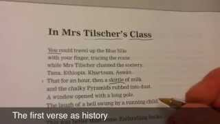 Complete analysis of In Mrs Tilcher's Class by Carol Ann Duffy