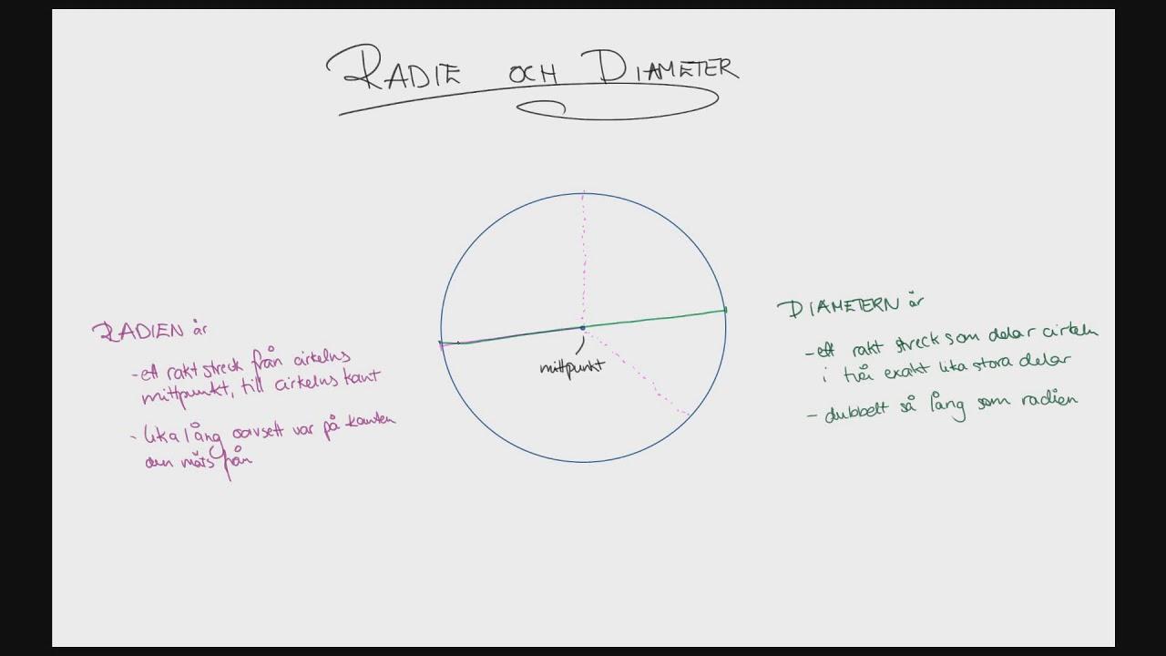 Åk 6 - Ingrid - Cirkeln - Diameter och radie