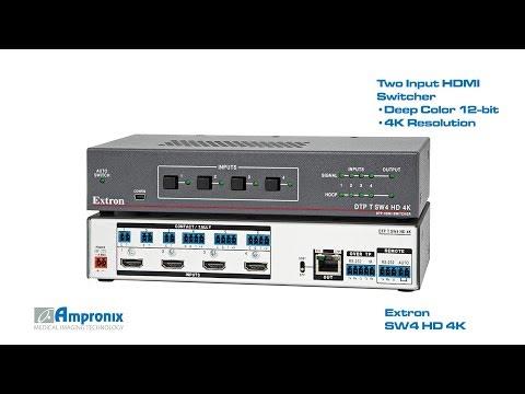 Extron SW4 HD 4K Four Input HDMI Switcher 60-1484-01