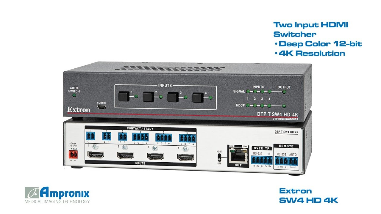 Extron SW4 HD 4K (60-1484-01) HDMI Switcher Sales | Service | Repair |  Exchange | Replacement