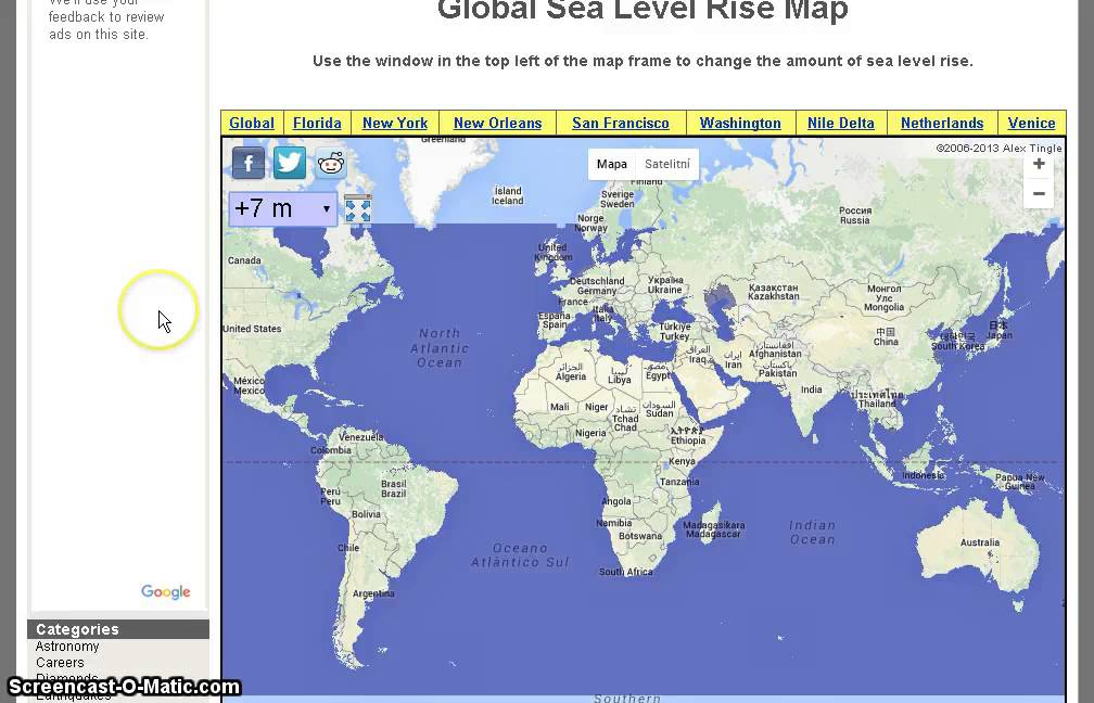 The Official Future Global Sea Level Rise Map YouTube - Global sea level rise map