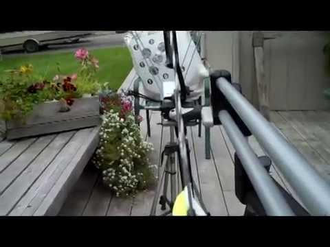 AMO Speed Test - Qarbon Nano Longbow http://www.AlaskaBowhunting.com