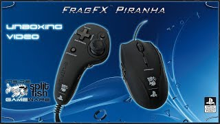 FRAGFX PIRANHA PS4 UNBOXING 🖱️ - Sony officially licensed PS4 Controller