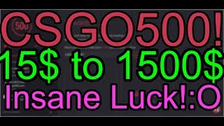 CS:GO Gambling / CSGO500 from 15$ to 1500$ Insane profit! Video