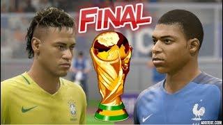 Neymar vs France   Final World Cup 2018   FIFA 18 Gameplay Legend