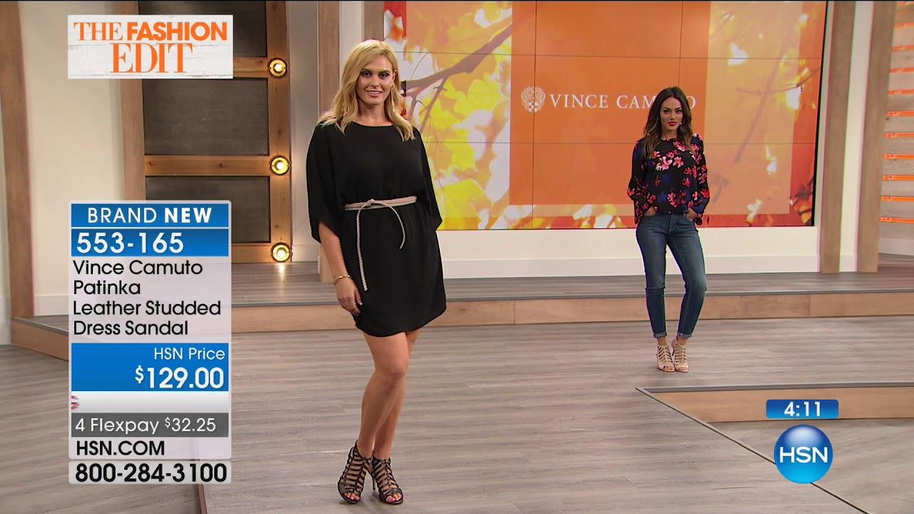 Vince Camuto Patinka Leather Studded Dress Sandal