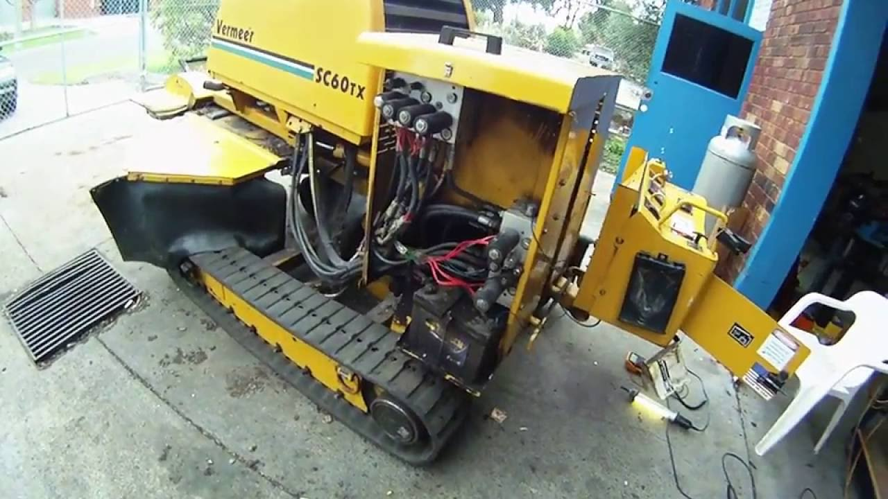 vermeer sc60tx stump grinder track control harness fault youtube rh youtube com