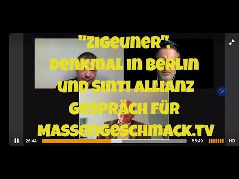 """""""Zigeuner"""", Denkmal in Berlin und Sinti Allianz - Gespräch für Massengeschmack.tv"""