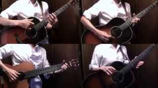 """""""Sugar Song to Bitter Step""""+α by Osamuraisan 「シュガーソングとビターステップ」アコギでロックしてみた+おまけ"""