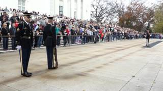 Awesome Changing of the Guard, Arlington Cemetery, November 28, 2015, 1pm