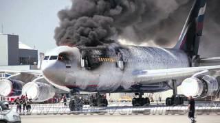 Пожар в Шереметьево, сгорел Ил-96 (фотоотчет HD)