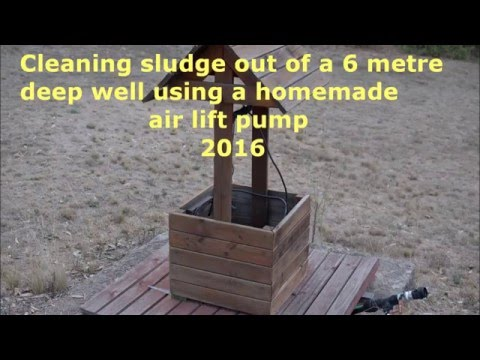 Water well and bore cleaning using an air lift pump