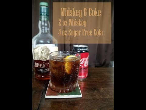 Whiskey & Coke Low Carb Cocktails you can order at a bar, part 3