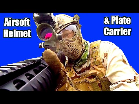 Airsoft Helmet And Tactical Waistcoat Review