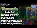Terraria 1.3.4.4 HOW TO | Build an Efficient HERB FARM + TIPS & POTIONS | Episode 2