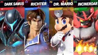 Richter/Dark Samus/Dr. Mario/Incineroar