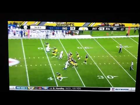 Joshua Dobbs #5 Pittsburgh Steelers 2 secs left