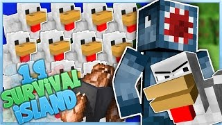 TOO MANY CHICKENS! - Minecraft 1.9 Hardcore Survival Island [9]