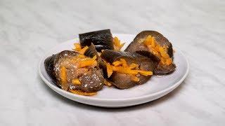 Вкуснейшие соленые баклажаны с чесноком и морковью