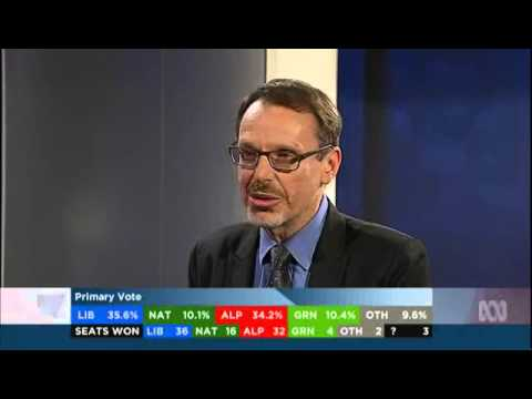 Greens NSW MP John Kaye on ABC TV 28 March re election results