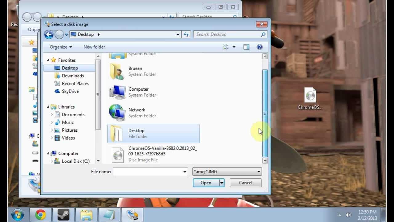 How to install Chromium OS onto a USB