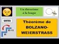 SUITES - Théorème de BOLZANO-WEIERSTRASS