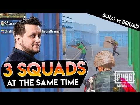 POWERBANG vs 3 SQUADS AT ONCE - PUBG Mobile