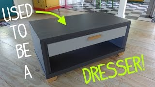 Turn a Broken Dresser Into a Table!