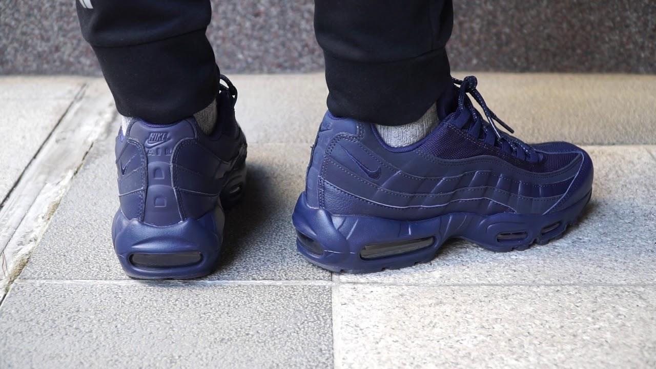 Nike Air Max 95 Essential Full 'Midnight Navy' On feet YouTube