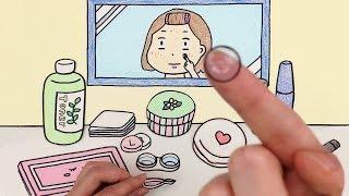 화장하기 스톱모션 거울버전!! (Make-up stop motion / Mirror Ver.) :: 셀프어쿠스틱