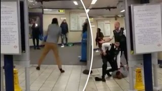 BREAKING VIDEO Terrorist Attack London - Knifeman screams