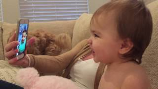 Funny Baby Video - Babies FaceTime video Chat  with  Each Other