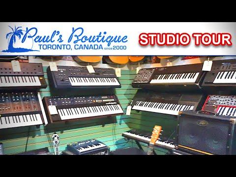 PAUL'S BOUTIQUE - Synth Studio & Music Store Tour | Toronto, Canada