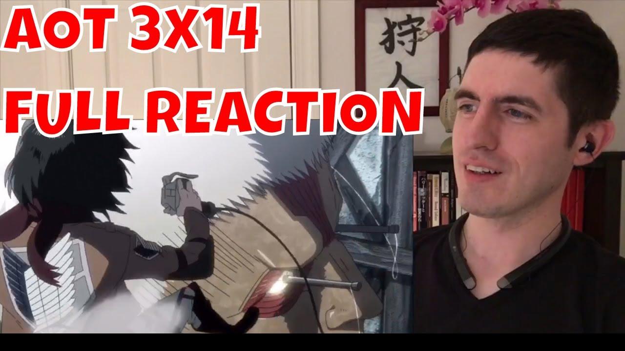 Attack on Titan Season 3 Episode 14 FULL REACTION - YouTube