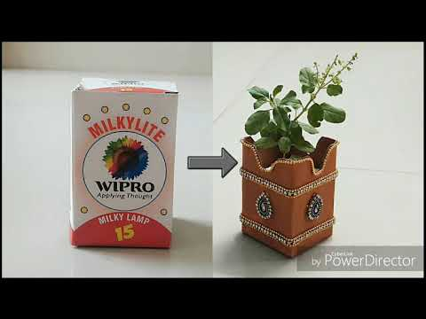 How to make Tulasi kota/empty box reuse/best out of waste