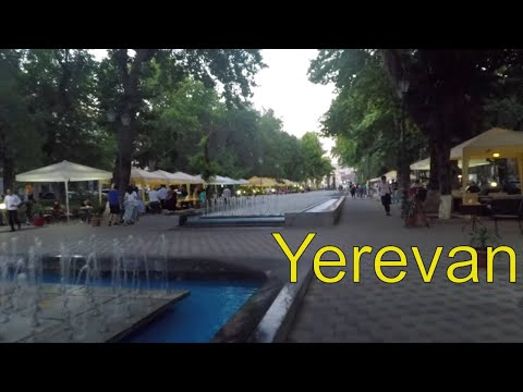Walking Through Downtown Yerevan And Shahumyan Fountain Park