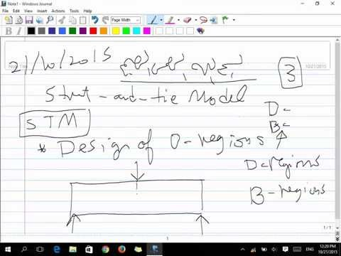 Strut And Tie Model (STM) Lecture 3 (21/10/2015)