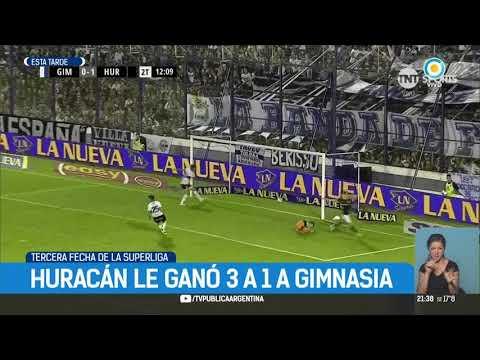 Superliga: Huracán le ganó 3-1 a Gimnasia