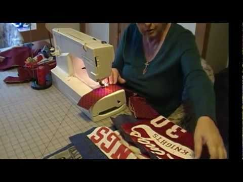 how-to-make-a-quilt-using-sports-uniforms-&-t-shirts-part-2.wmv