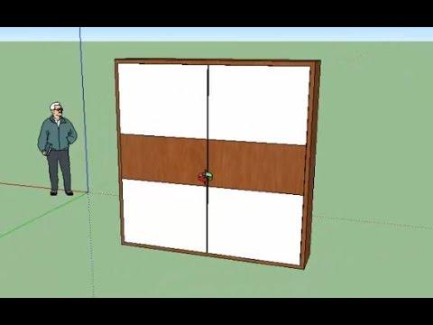 tutorial sketchup membuat lemari mudah dan cepat