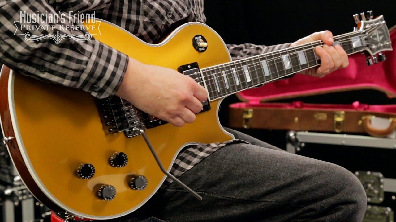 gibson custom les paul custom goldtop with floyd rose electric guitar youtube. Black Bedroom Furniture Sets. Home Design Ideas
