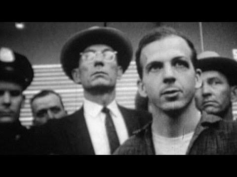 Lee Harvey Oswald speaks to the press