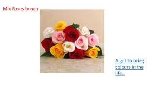 Choice of flowers for online flower delivery in Bangalore