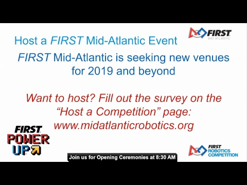 2018 FIRST Mid-Atlantic District Championship Day 1