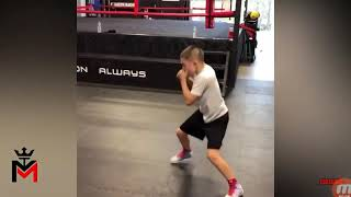 Baby Bruce lee vs Baby  miktyson kung fu vs Boxing training highlights...
