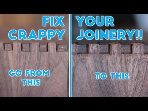 How To Fix Your Crappy Joinery!! | Woodworking / DIY