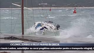 Ciclonul Zorbas a făcut prăpăd în Grecia