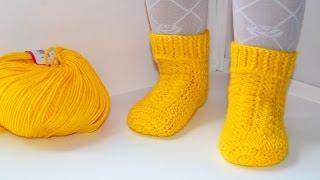 Мастер класс по вязанию детских носочков крючком. DIY socks crochet(Мастер класс по вязанию