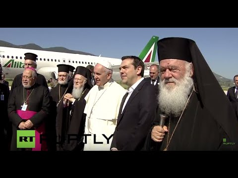 LIVE: Pope Francis visits Greek island of Lesbos