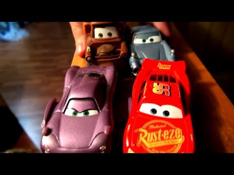 Pixar Cars 2 The Big Tower with Lightning McQueen, Mater Finn McMissile and Holly with the Lemons